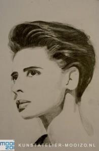 portret in potlood